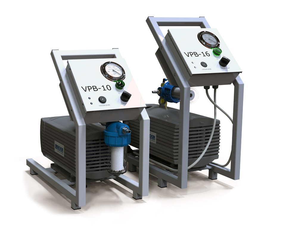 Vacuum systems for wood bending, cold veneering and laminating