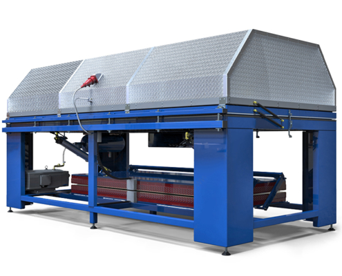 Thermoforming vacuum press