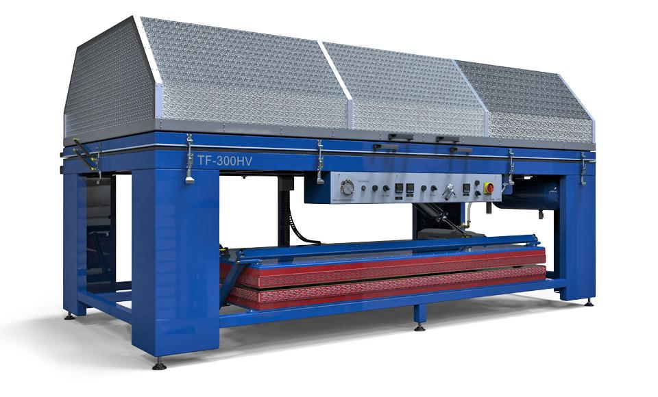 Thermoforming vacuum presses